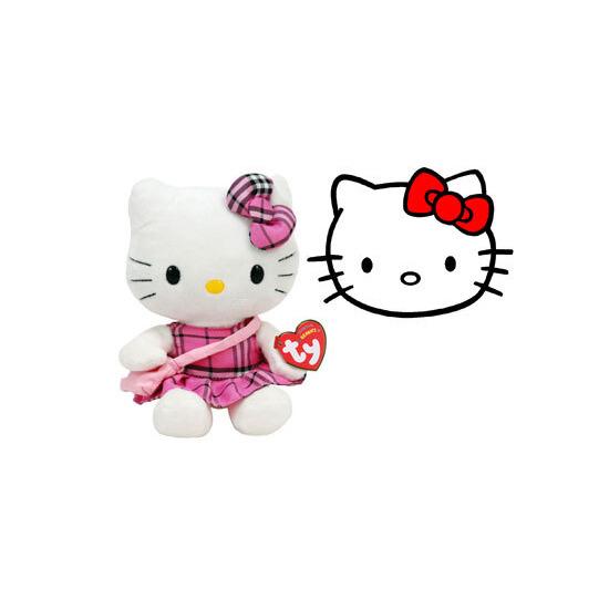 Ty Beanie - Hello Kitty Tartan