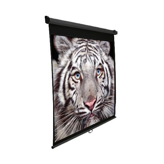 "Elite M100UWHBK Manual Pull Down 100"" Projector Screen 16:9 Ratio - Black Casing"