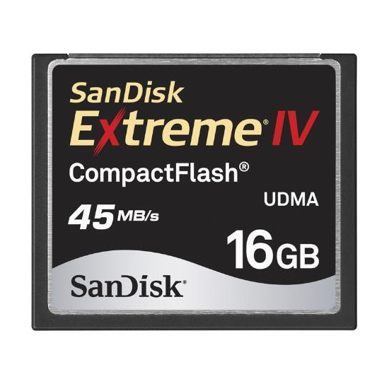 SanDisk 16GB Extreme IV Compact Flash CF