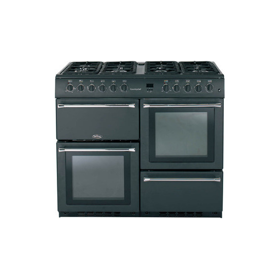 belling country chef 100cm gas range cooker anthracite. Black Bedroom Furniture Sets. Home Design Ideas