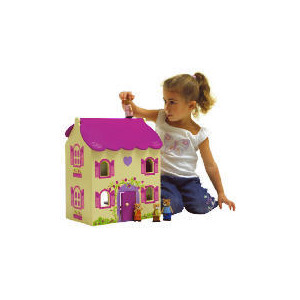 Photo of Sparkle and Glitz Wooden Bear Cottage Toy