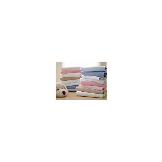 Tesco My Baby's 2 Pack Fitted Jersey Sheets White - Cot Bed