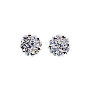 Photo of 9CT White Gold 1/4 Carat Diamond Earrings Jewellery Woman