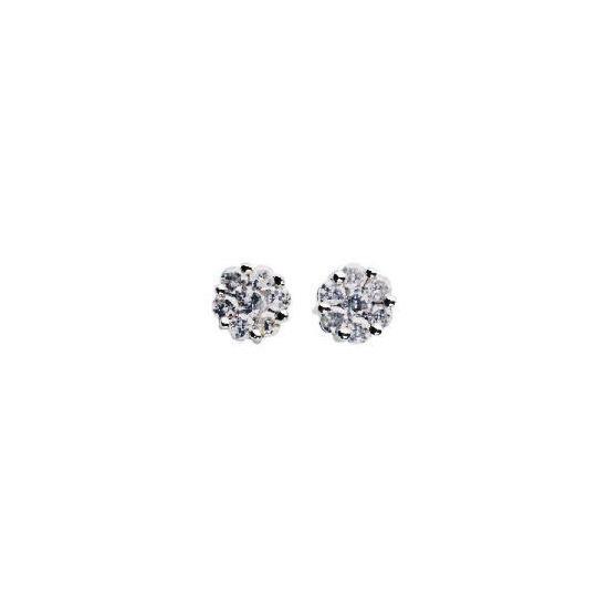 9ct white gold 1/4 carat diamond earrings