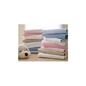 Photo of Tesco My Baby's 2 Pack Pack Fitted Jersey Sheets White - Cot Baby Product