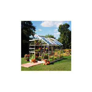 Photo of 8X6 Aluminium Greenhouse Toughened Glass Shed