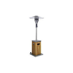 Photo of Slatted Wooden Covered Patio Heater Garden Equipment