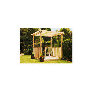 Photo of Garden Inspirations Single Deck - Single Pergola and Ballustrade Kit Garden Furniture