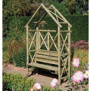 Photo of Rustic Seat Arbour Garden Equipment