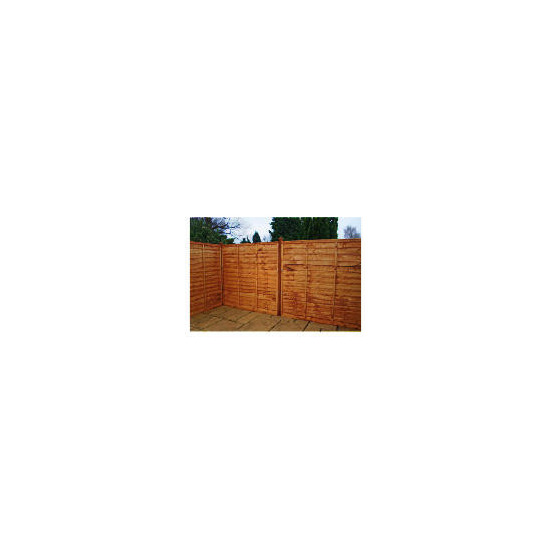 Waney Edge Horizontal Fencing x3