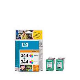 Original HP No.344 colour printer ink cartridge twinpack C9505EE Reviews