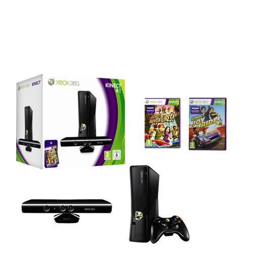 Microsoft Xbox 360 with Kinect Sensor, Kinect Adventures & Kinect Joy Ride