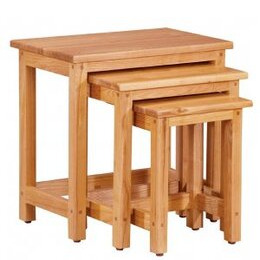 Contemporary Solid Oak Nest of tables Reviews