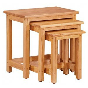 Photo of Contemporary Solid Oak Nest Of Tables Furniture