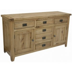 Photo of Rutland Solid American White Oak 2 Door 6 Drawer Buffet Furniture