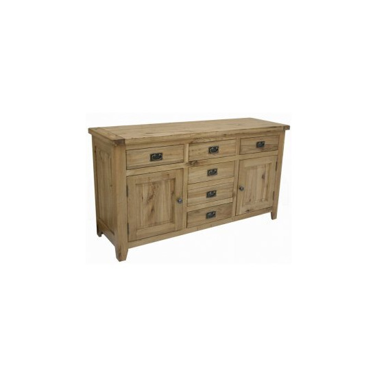 Rutland Solid American White Oak 2 Door 6 Drawer Buffet