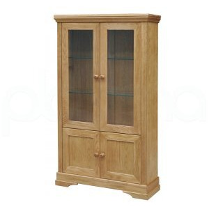 Photo of Oxford Solid Oak Display Cabinet Furniture