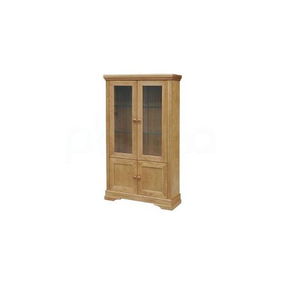 Oxford Solid Oak Display Cabinet