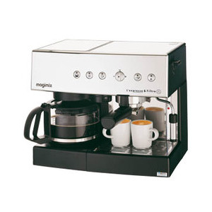 Photo of Magimix Auto L'Expresso Coffee Machine & Filter 11407 - Satin Steel Coffee Maker