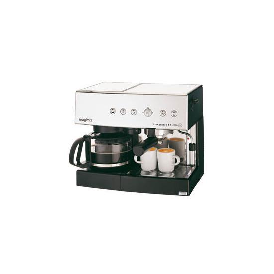 Magimix Auto L'Expresso Coffee Machine & Filter 11407 - Satin Steel
