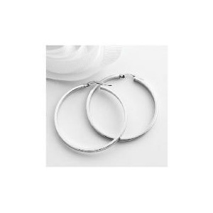 Photo of 9CT White Gold Hoops Jewellery Woman