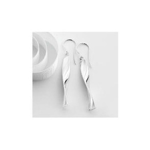 Photo of 9CT White Gold Drop Earrings Jewellery Woman