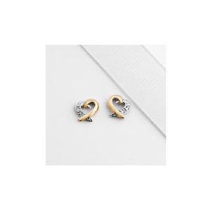 Photo of 9CT Gold Diamond Heart Studs Jewellery Woman