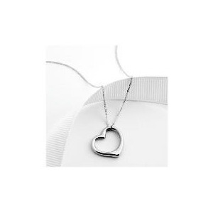 Photo of 9CT White Gold Heart Pendant Jewellery Woman