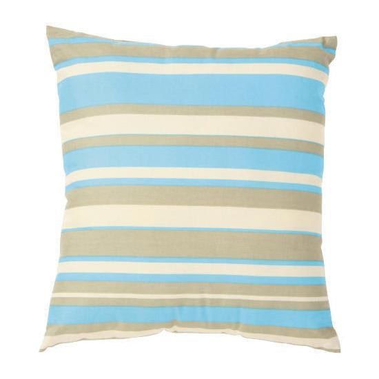 Tesco Stripe Cushion, Aqua