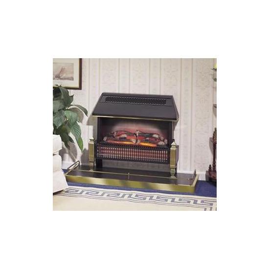 Dimplex  Lyndhrust 2kW 71cm Radiant Bar Electric Fire with Stylish Black Canopy