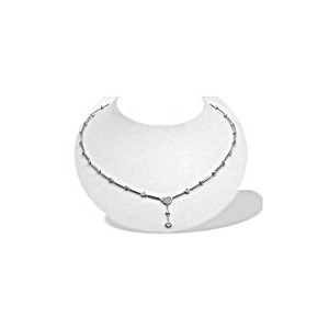 Photo of 9K W/g Diamond Collar (0.31CT) Necklace Jewellery Woman