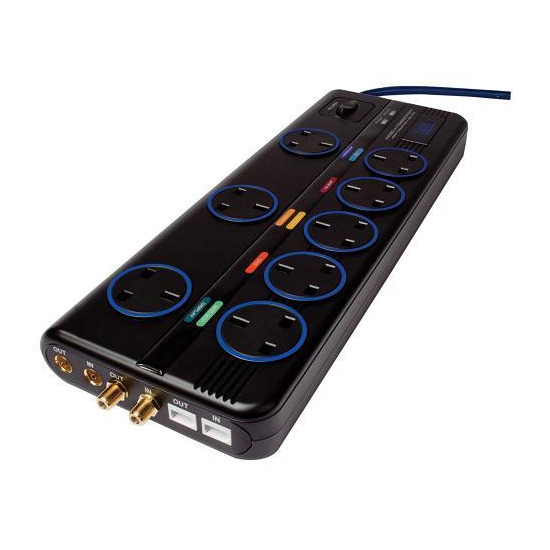 Ixos XHP280-UK Studio 8 Outlet AV Powerstation - Surge Protection