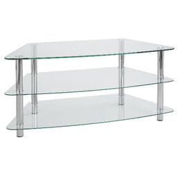 Mercury 3 Shelf Corner Unit Clear Reviews
