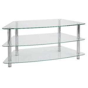 Photo of Mercury 3 Shelf Corner Unit Clear TV Stands and Mount