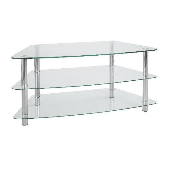 Mercury 3 Shelf Corner Unit Clear