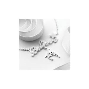 "Photo of Disney Tinkerbell ""Believe"" Pendant Jewellery Woman"