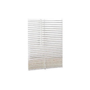 Photo of Wood Venetian Blind Chalk 90CM 25MM Slats Blind