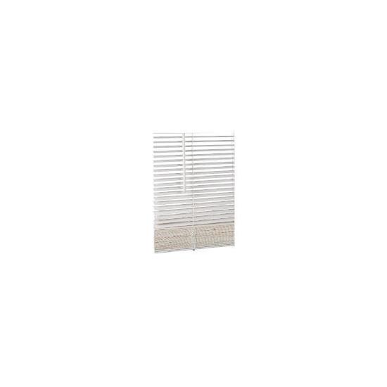 Wood Venetian Blind Chalk 90cm 25mm slats