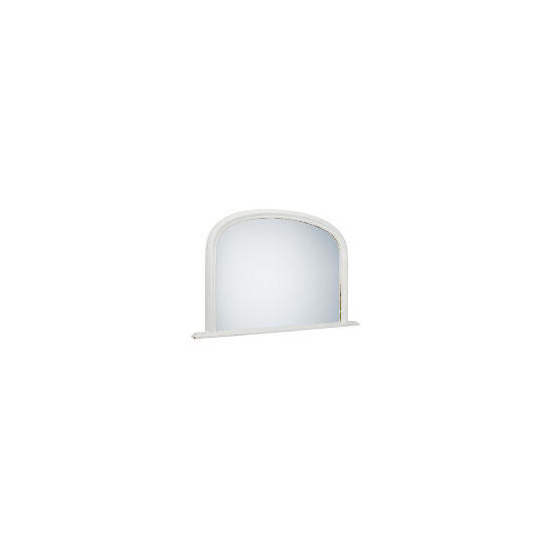 """Arch Overmantle Mirror Off White 31x47"""""""