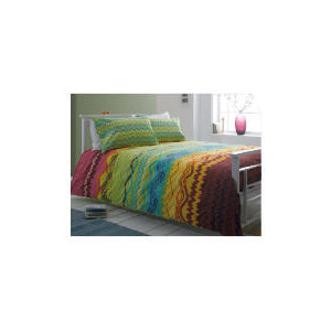 Photo of Tesco Zig Zag Print Duvet Set Double, Multi-Coloured Bed Linen