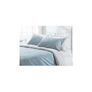 Photo of Tesco Linear Leaf Print Duvet Set Kingsize, Natural Bed Linen