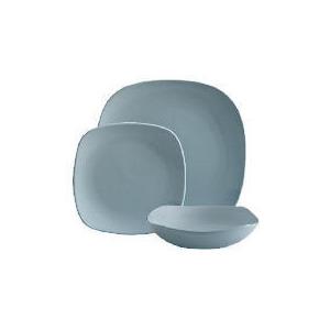 Photo of Tesco Mono Square Dinnerware Set 12 Piece, Blue Dinnerware