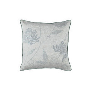 Photo of Finest Floral Silk Cushion - Duck Egg Cushions and Throw