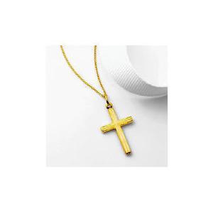Photo of 9CT Gold Diamond Cut Cross Pendant Jewellery Woman