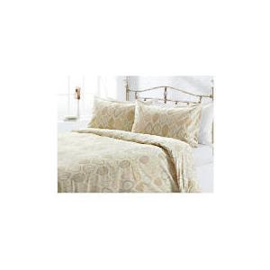 Photo of Tesco Leaf Print Duvet Set Single, Cream Bed Linen