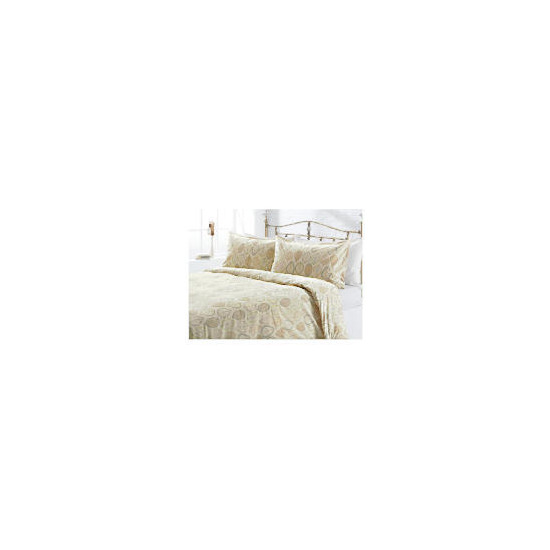 Tesco Leaf Print Duvet Set Single, Cream