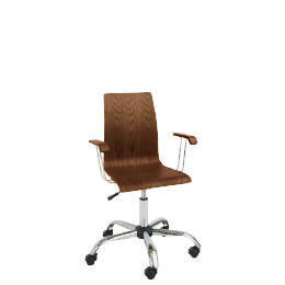 Padova Home Office Chair with Arms, Walnut Reviews