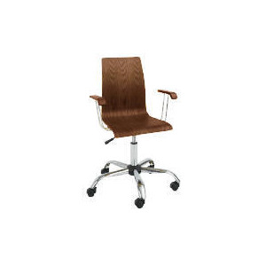Photo of Padova Home Office Chair With Arms, Walnut Furniture