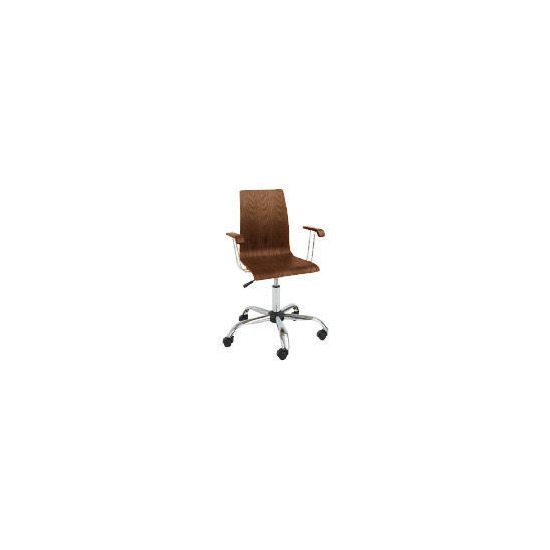 Padova Home Office Chair with Arms, Walnut