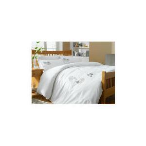Photo of Tesco Poppy Applique Duvet Set Double, White Bed Linen